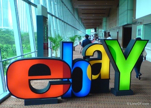 The Ebay logo during Ebay Explained 2006 at KLCC, Malaysia